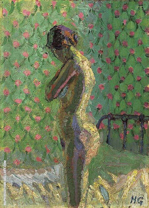 Nude Standing by a Bed 1916 By Harold Gilman
