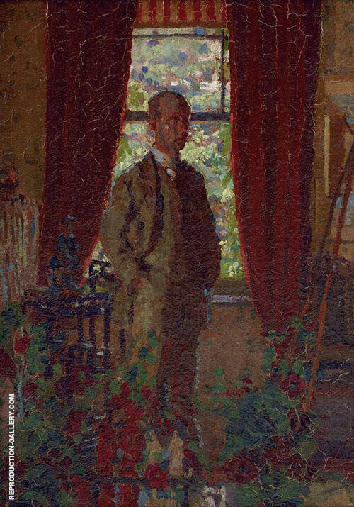 Self Portrait c1908 Painting By Harold Gilman - Reproduction Gallery