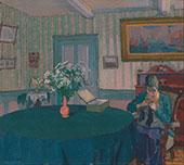 Sylvia Darning 1917 By Harold Gilman