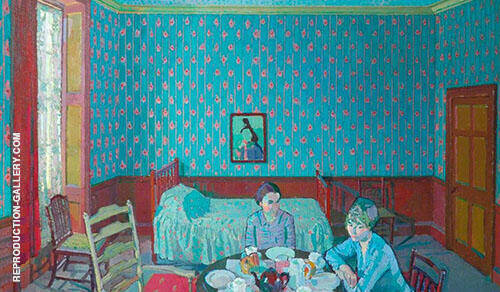 Tea in The Bedsitter 1916 Painting By Harold Gilman - Reproduction Gallery