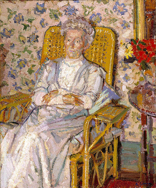 The Artist's Mother c1913 Painting By Harold Gilman - Reproduction Gallery