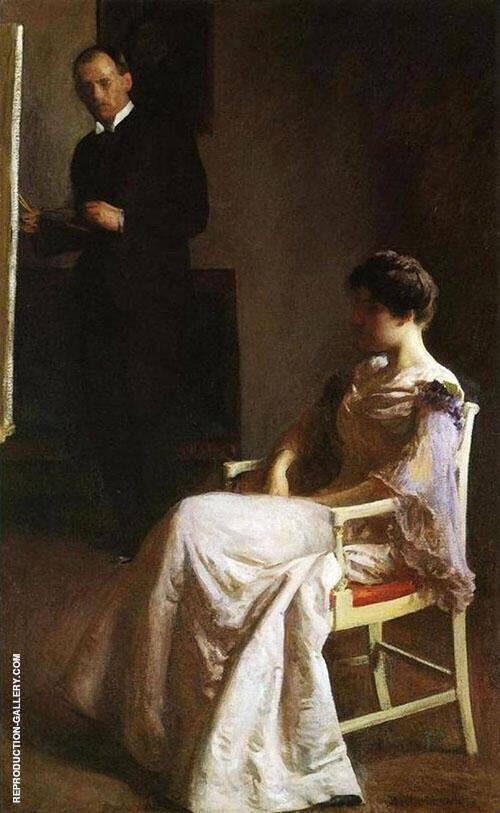 In The Studio 1890 By Joseph de Camp