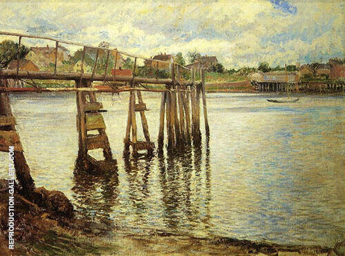 Jetty at Low Tide The Water Pier 1901 By Joseph de Camp