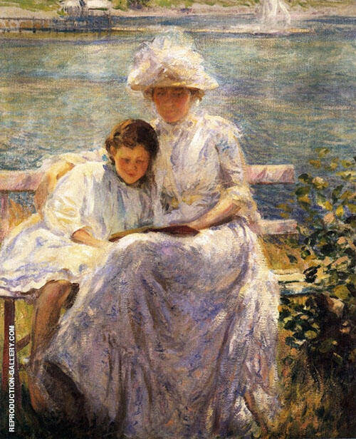 June Sunlight 1902 Painting By Joseph de Camp - Reproduction Gallery