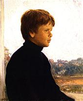 Portrait of a Boy Ted 1902 By Joseph de Camp