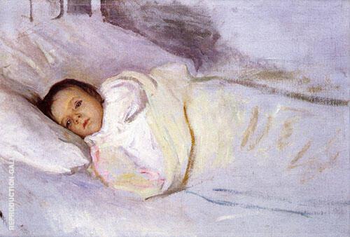 Portrait of The Artist's Daughter Painting By Joseph de Camp