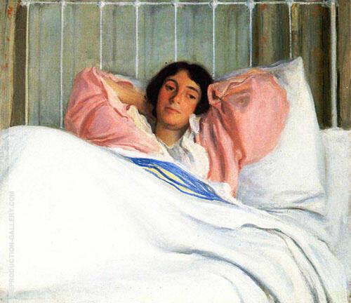 Portrait of The Artist's Wive Edity By Joseph de Camp