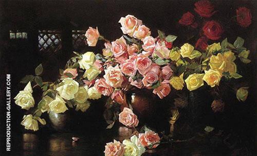 Roses 1890 By Joseph de Camp