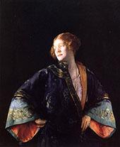 The Blue Mandarin Coat (The Blue Kimono) 1922 By Joseph de Camp