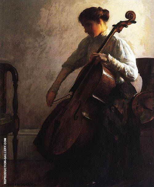 The Cellist 1908 Painting By Joseph de Camp - Reproduction Gallery