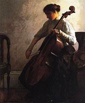 The Cellist 1908 By Joseph de Camp