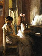 The Music Lesson c1904 By Joseph de Camp