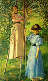The Pear Orchard c1895 By Joseph de Camp