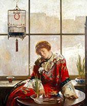 The Red Kimono c1919 By Joseph de Camp