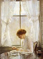The Seamstress 1916 By Joseph de Camp