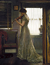 The Violinist The Violin Girl with a Violin 1902 By Joseph de Camp