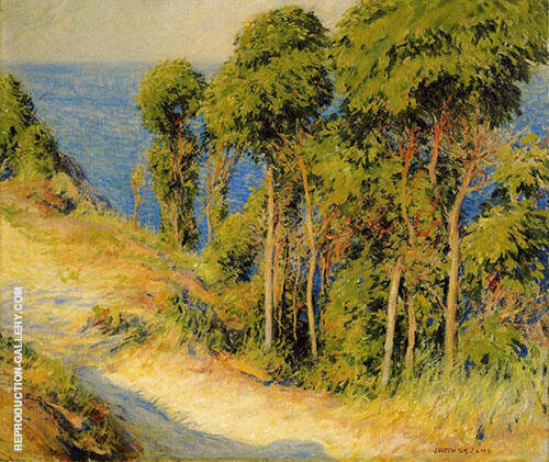 Trees Along The Coast Road to The Sea 1893 By Joseph de Camp