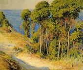 Trees Along The Coast Road to The Sea 1893 By Joseph de Camp