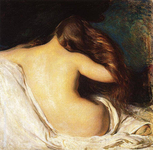 Woman Drying Her Hair 1899 By Joseph de Camp