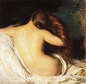Woman Drying Her Hair 1899 By Joseph de Camp