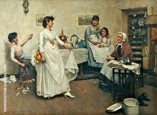 A Dress Rehearsal 1888 Painting By Albert Chevallier Tayler