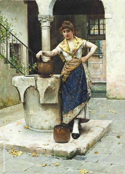 At The Well By Albert Chevallier Tayler