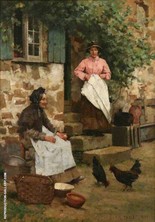 Feeding Time 1884 By Albert Chevallier Tayler