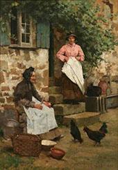Feeding Time 1884 By Albert Chevallier Tayler