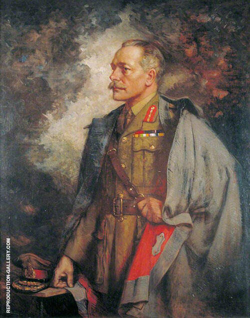 Field Marshall The Earl Haig 1920 By Albert Chevallier Tayler