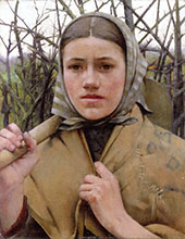 Home From The Fields By Albert Chevallier Tayler