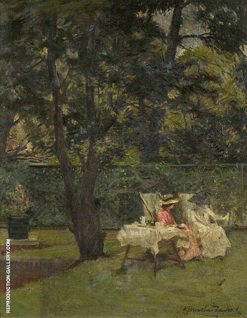 In The Garden 1912 By Albert Chevallier Tayler