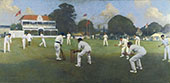 Kent Versus Lancashire Canterbury By Albert Chevallier Tayler