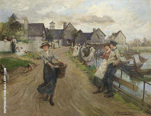 On The Promenade 1914 By Albert Chevallier Tayler
