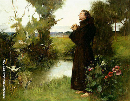 St Francis 1898 Painting By Albert Chevallier Tayler