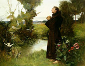 St Francis 1898 By Albert Chevallier Tayler