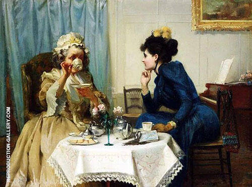 Teatime By Albert Chevallier Tayler