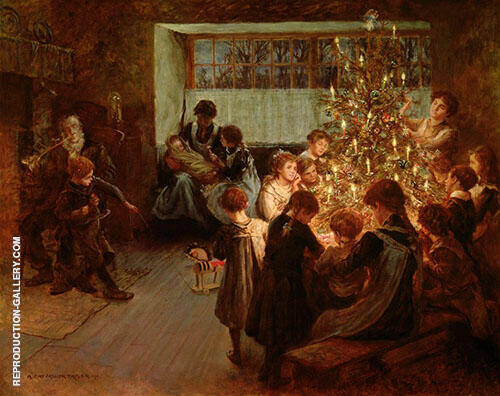 The Christmas Tree 1911 By Albert Chevallier Tayler