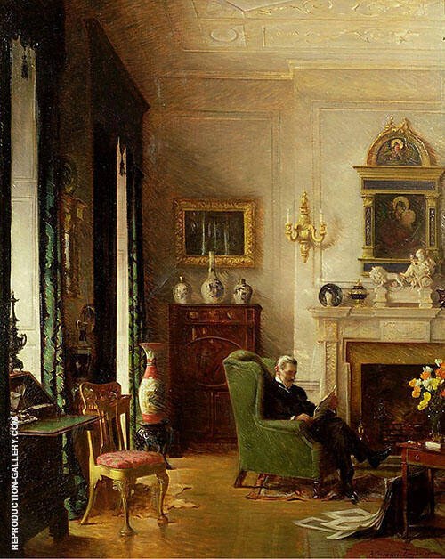 The Grey Drawing Room 1917 By Albert Chevallier Tayler