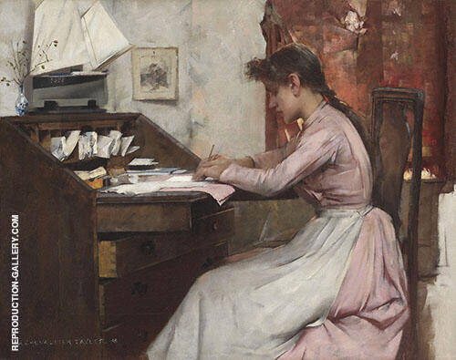 The Letter 1888 By Albert Chevallier Tayler