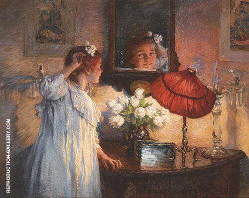 The Mirror 1914 By Albert Chevallier Tayler