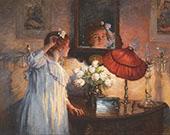 The Mirror 1914 By Albert Chevallier Tayler