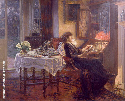 The Quiet Hour 1913 By Albert Chevallier Tayler
