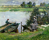 The Thames at Benson 1912 By Albert Chevallier Tayler