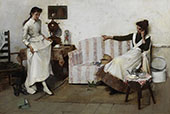 Trying Them On By Albert Chevallier Tayler
