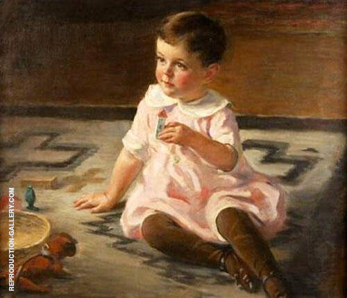 Child with Toys 1922 Painting By Mary Brewster Hazelton