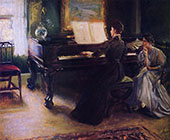 Two Sisters at a Piano 1894 By Mary Brewster Hazelton