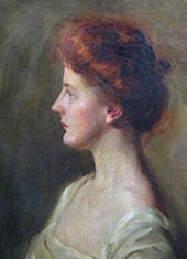 Woman in White 1906 By Mary Brewster Hazelton