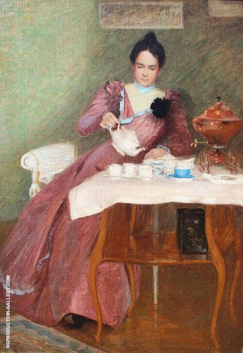 Delicious Chocolate Tea Art Afternoon By Mary Brewster Hazelton