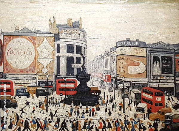 Piccadilly Circus By L-S-Lowry