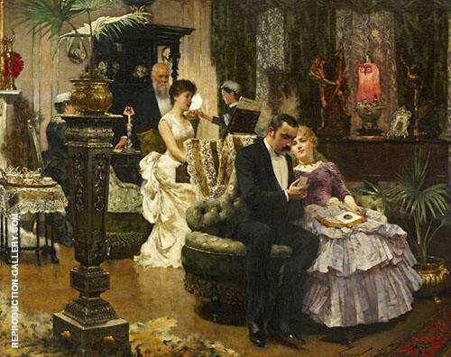 A Conversation Piece 1884 By Solomon Joseph Solomon